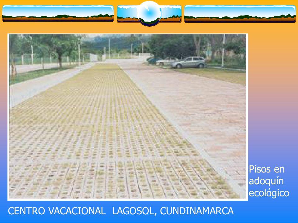 CENTRO VACACIONAL LAGOSOL, CUNDINAMARCA Pisos en adoquín ecológico