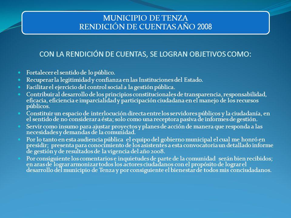 JUSTICIA Pago de personal de la Comisaria y programa de reestructuración separando la Comisaria de Familia de la Inspección de Policía y operación d e la fuerza pública.