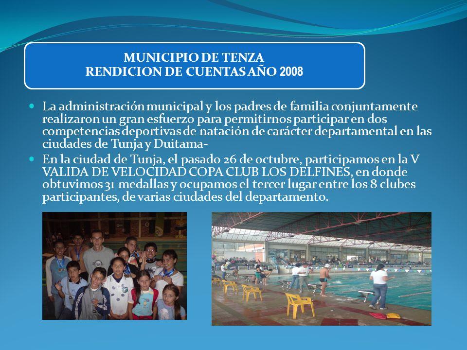 La administración municipal y los padres de familia conjuntamente realizaron un gran esfuerzo para permitirnos participar en dos competencias deportiv