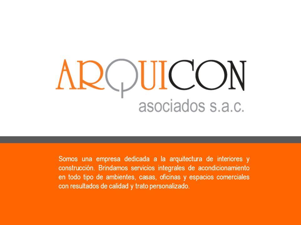 DATOS DE LA EMPRESA Razón social: Arquicon Asociados S.A.C.