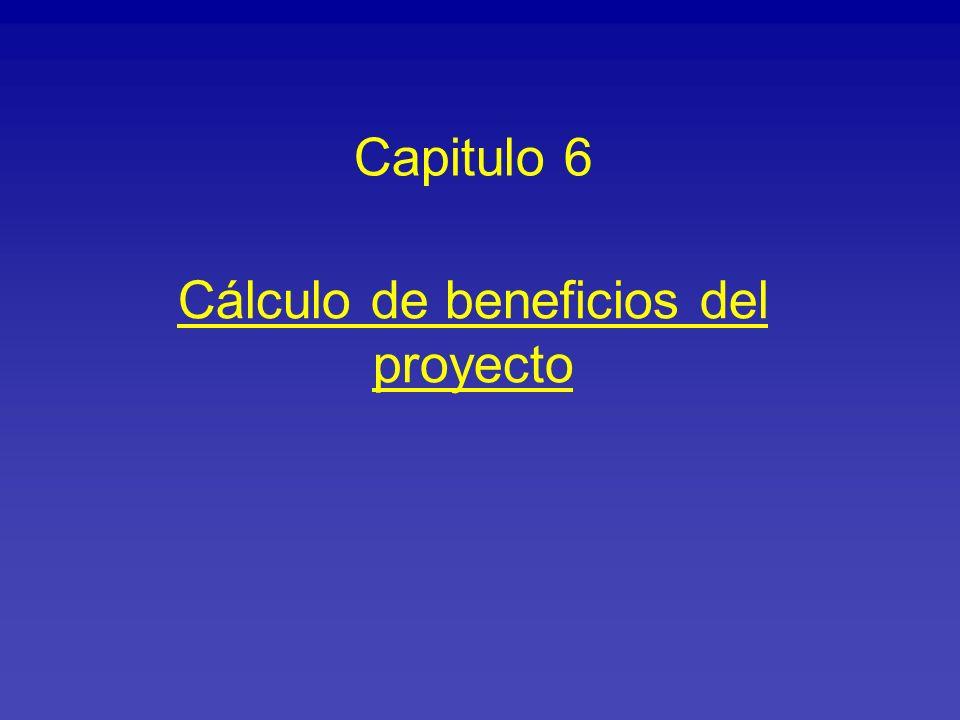 Cálculo de beneficios del proyecto Capitulo 6