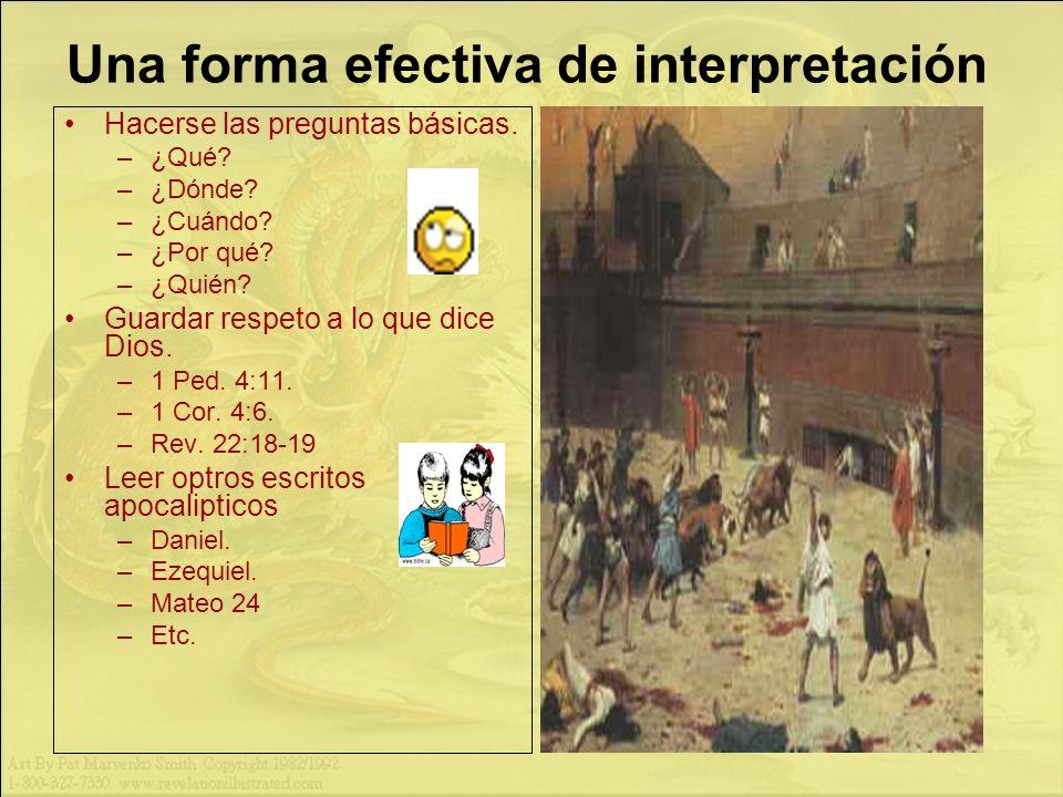 Una forma efectiva de interpretación Hacerse las preguntas básicas.