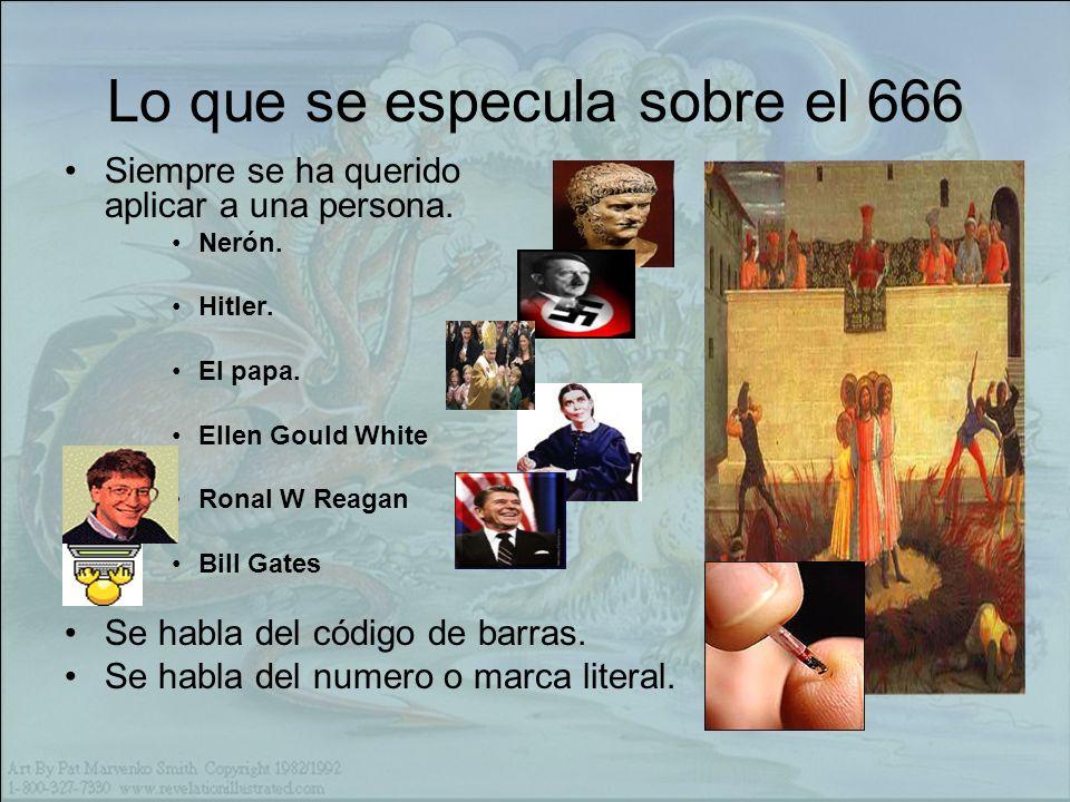Lo que se especula sobre el 666 Siempre se ha querido aplicar a una persona.