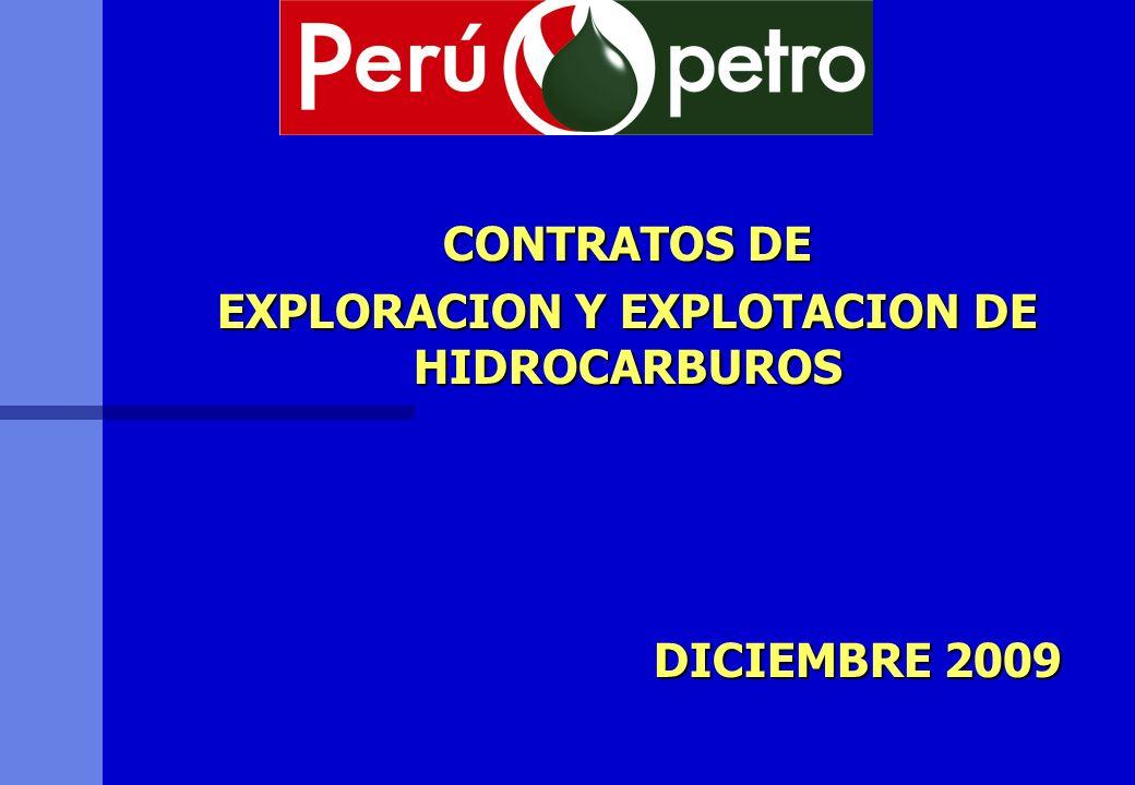 CONTRATOS DE EXPLORACION Y EXPLOTACION DE HIDROCARBUROS DICIEMBRE 2009