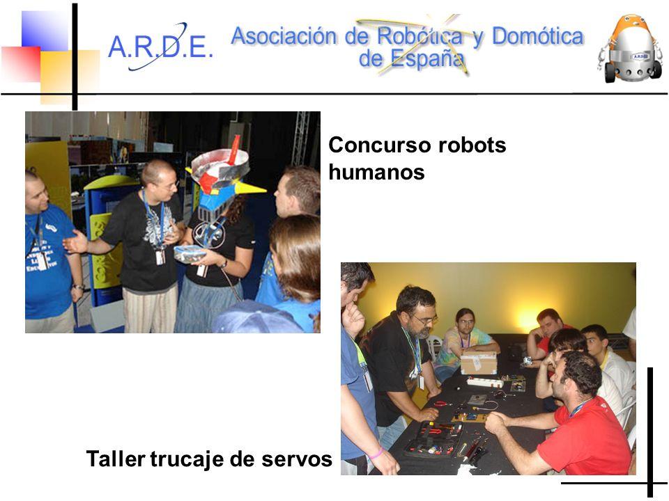 Concurso robots humanos Taller trucaje de servos