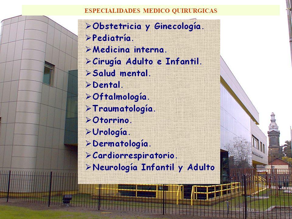 ESPECIALIDADES MEDICO QUIRURGICAS