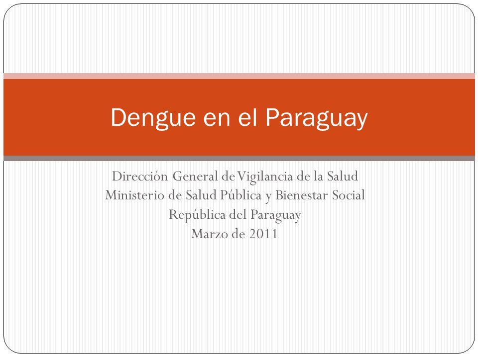 Dirección General de Vigilancia de la Salud Ministerio de Salud Pública y Bienestar Social República del Paraguay Marzo de 2011 Dengue en el Paraguay