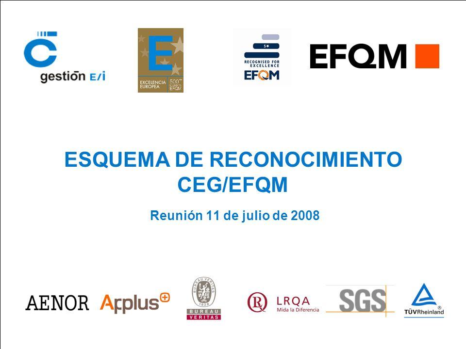 Reunión del Esquema 11 de julio de 2008 ESQUEMA DE RECONOCIMIENTO CEG/EFQM 2 Agenda Prevista 1.Análisis comercial 1º Semestre año 2008.