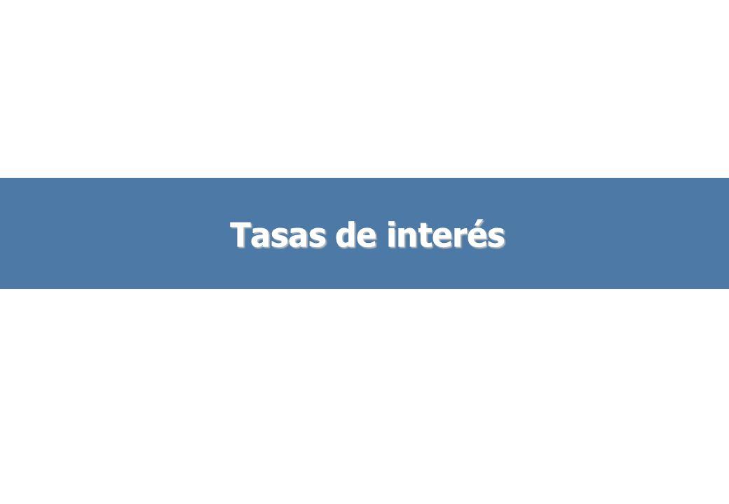 Tasas de interés