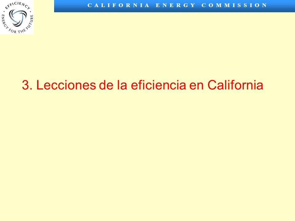 C A L I F O R N I A E N E R G Y C O M M I S S I O N 3. Lecciones de la eficiencia en California