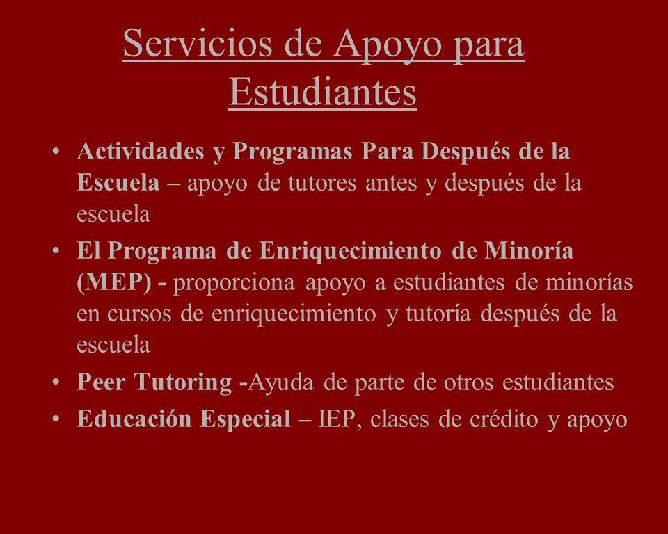 Servicios de Apoyo para Estudiantes Actividades y Programas Para Después de la Escuela – apoyo de tutores antes y después de la escuela El Programa de