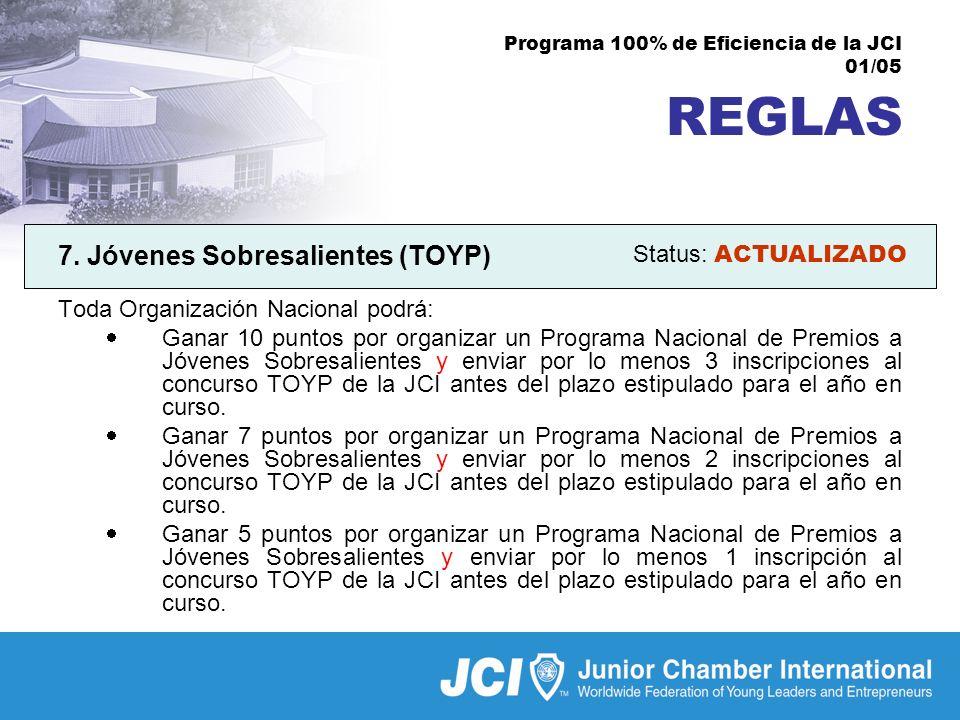 Programa 100% de Eficiencia de la JCI 01/05 REGLAS 7.