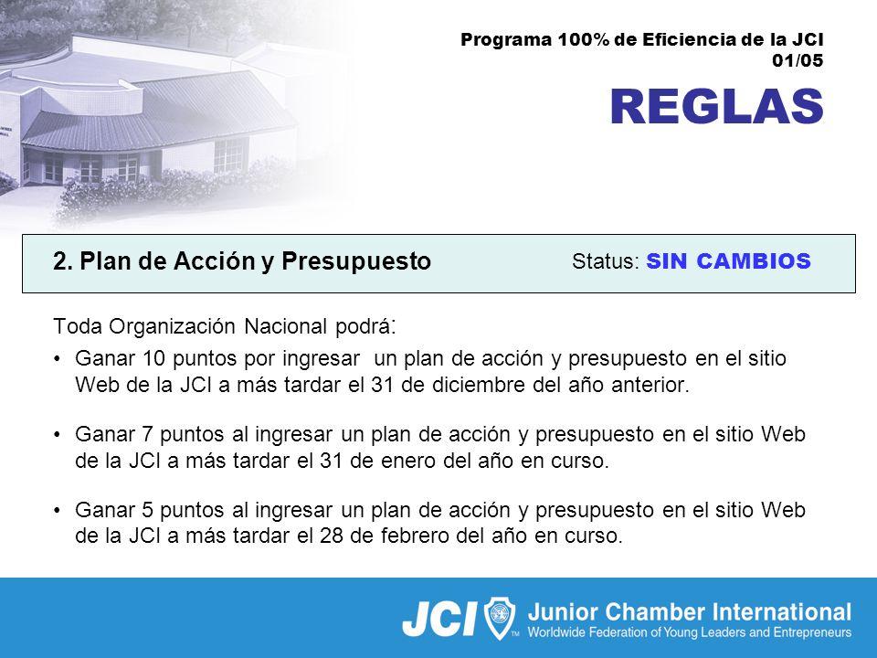 Programa 100% de Eficiencia de la JCI 01/05 REGLAS 2.