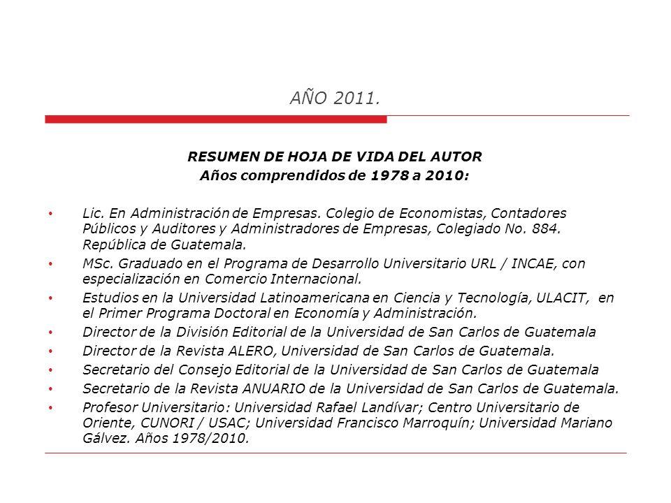 AÑO 2011. XI Encuentro Internacional de Economistas, La Habana, Cuba, marzo 2009. Presentación como Expositor de la Ponencia Ampliada: El Difícil Punt