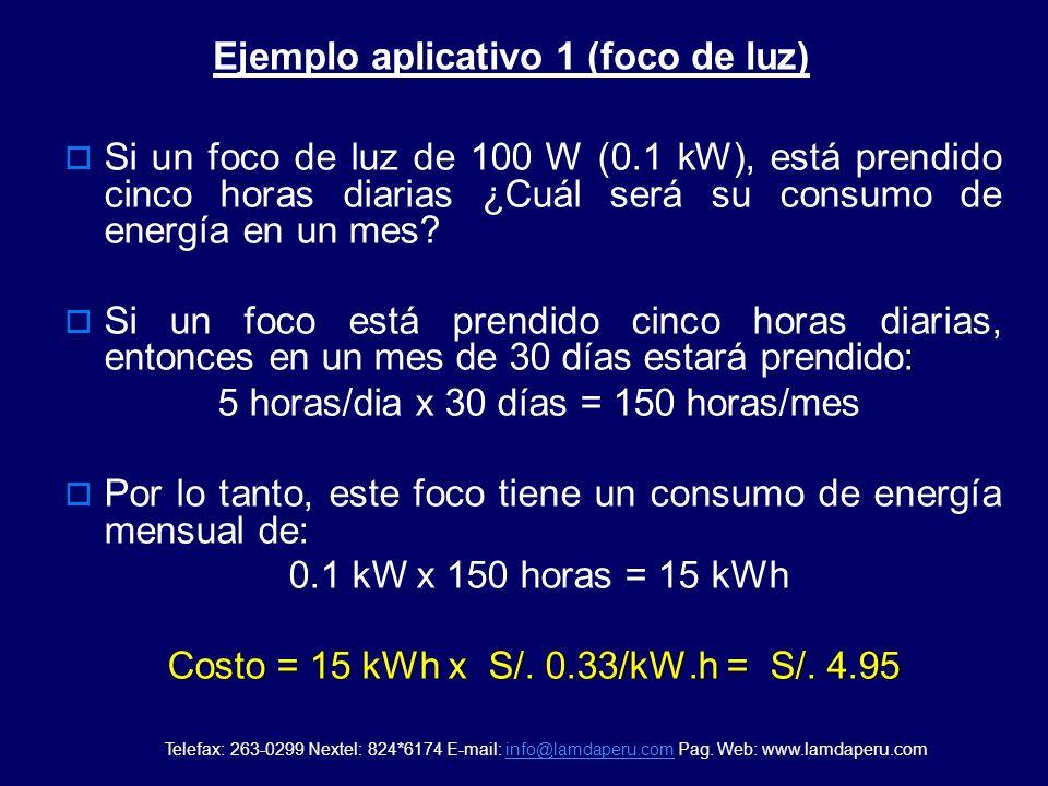 Cálculo de consumo de energía eléctrica de algunos artefactos La energía eléctrica (kWh) que consume un artefacto eléctrico, se determina multiplicand