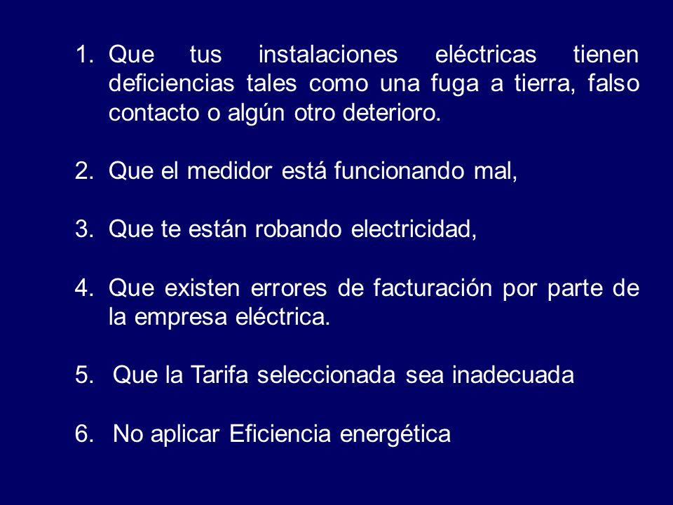 CAUSAS DE EXCESOS DE FACTURACIÓN DE ENERGÍA ELÉCTRICA Luego que has calculado el consumo de energía eléctrica en tu vivienda siguiendo el procedimient