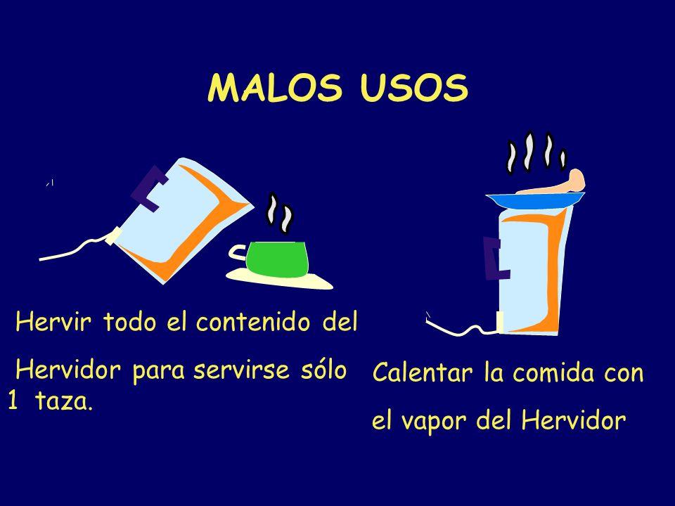 HERVIDORES DE AGUA Limite o elimine el uso de hervidores, cafeteras y cocinillas eléctricas. Usarlos es como encender 12 focos de 100w o más. Use un t