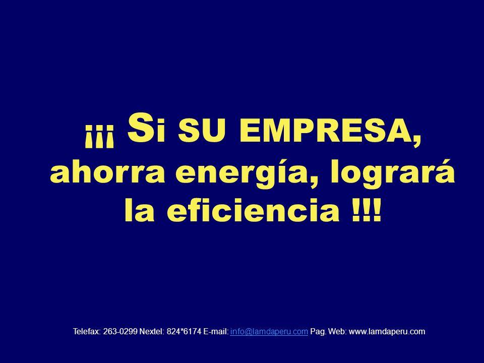 No desperdiciar la energía es también una manera de ser EFICIENTES... En conclusion: