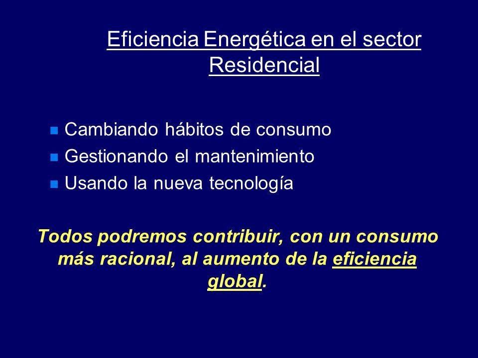 Sin embargo, en los sectores del transporte y de los edificios, incluyendo los hogares, la situación es diferente, La eficiencia energética en los hog