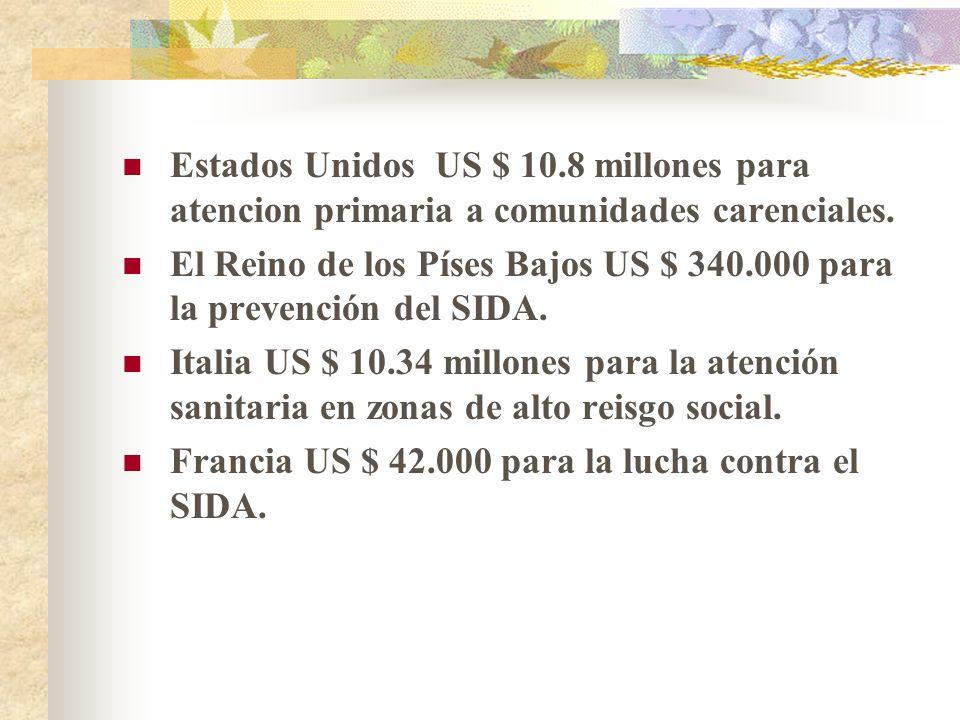 Estados Unidos US $ 10.8 millones para atencion primaria a comunidades carenciales.