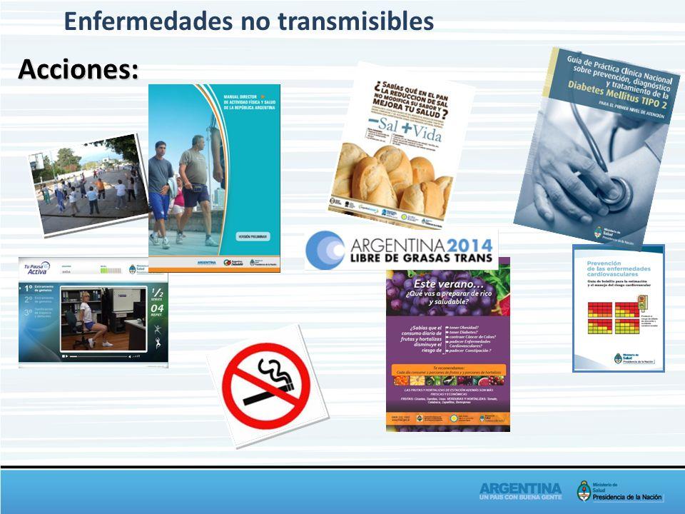 Enfermedades no transmisiblesAcciones: