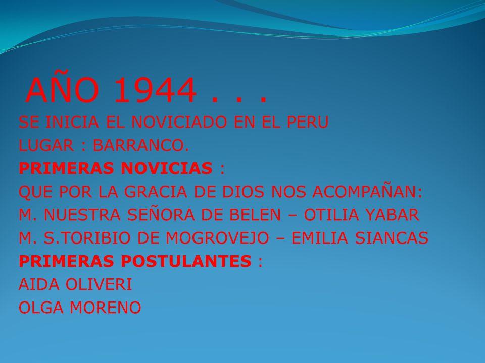 PRESENTACION LA COMUNIDAD DE LA CASA DE RETIROS NUESTRA SEÑORA DE LOS ANGELES CELEBRAMOS HOY 50 AÑOS DE VIDA CONSAGRADA AL SERVICIO DE LA PROVINCIA Y