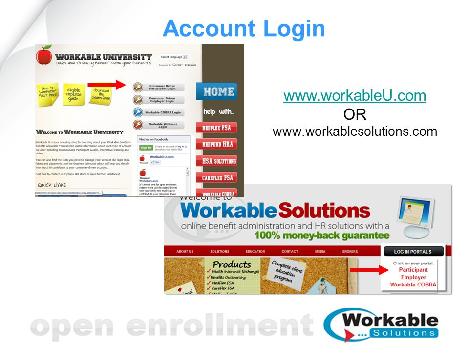 Account Login www.workableU.com OR www.workablesolutions.com