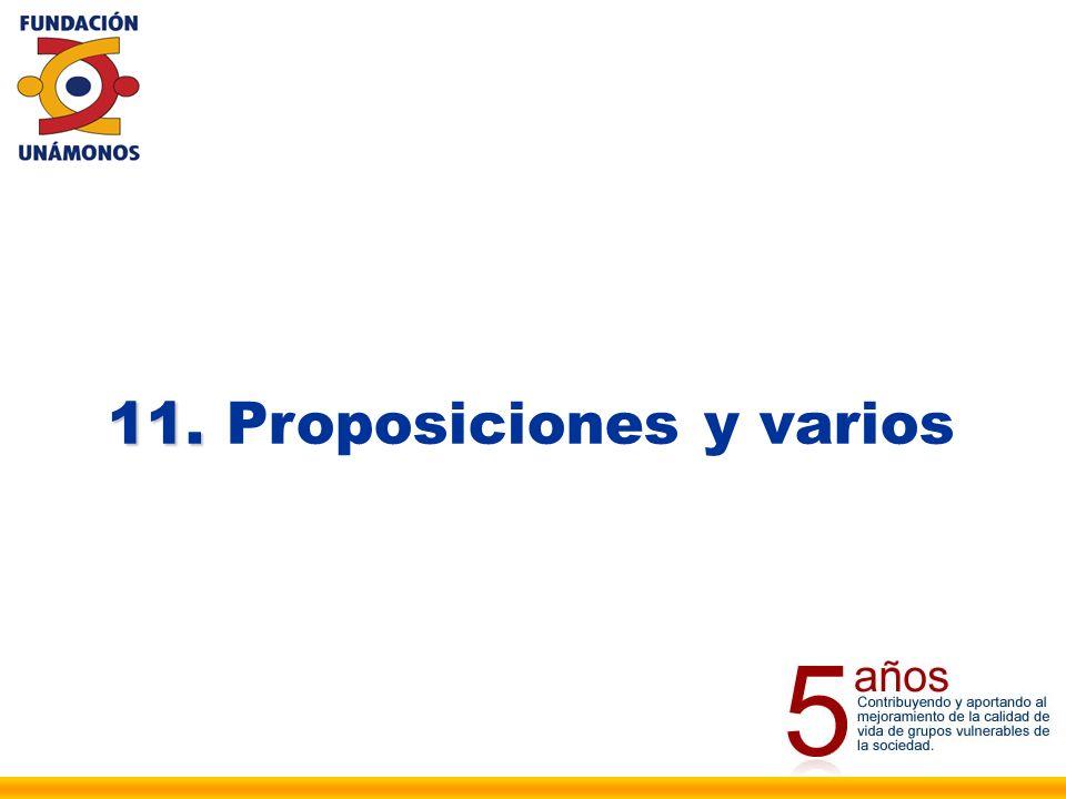 11. 11. Proposiciones y varios
