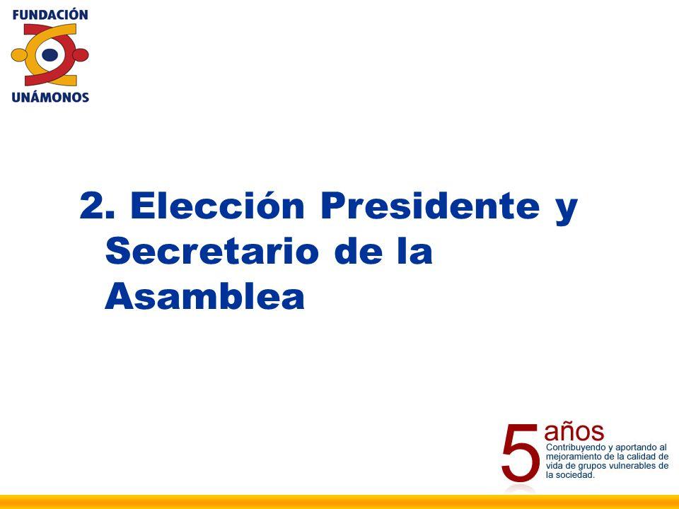 3. Elección Comisión para la elaboración y aprobación del Acta