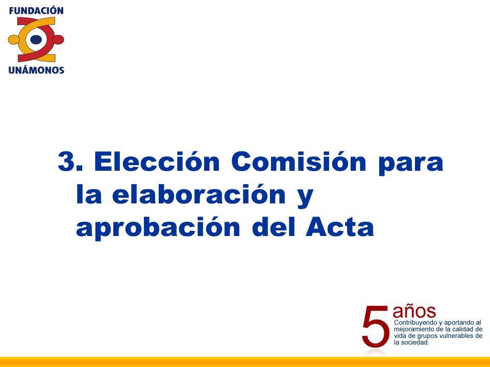4. Elección de la Comisión de Escrutinios