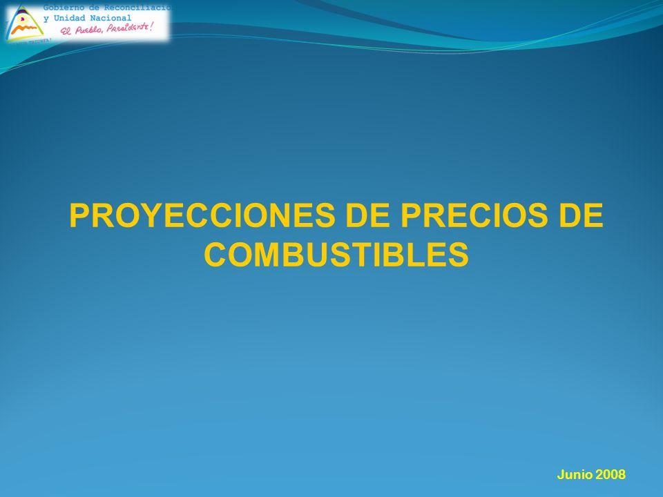 PROYECCIONES DE PRECIOS DE COMBUSTIBLES Junio 2008