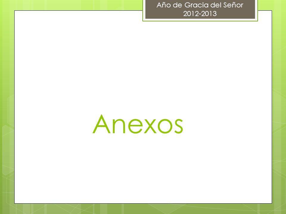Anexos Año de Gracia del Señor 2012-2013
