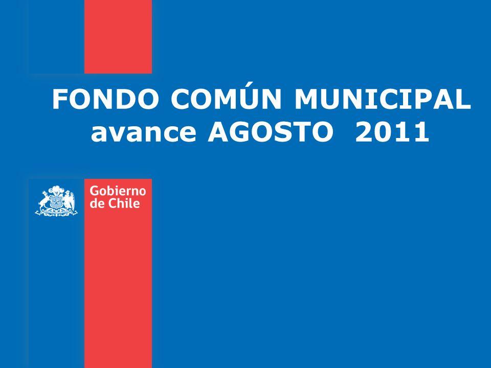 FONDO COMÚN MUNICIPAL avance AGOSTO 2011