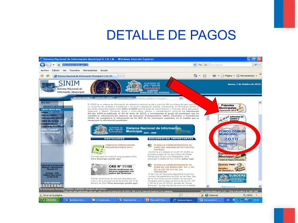 DETALLE DE PAGOS