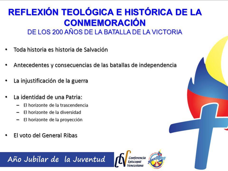 Toda historia es historia de Salvación Toda historia es historia de Salvación Antecedentes y consecuencias de las batallas de independencia Antecedent
