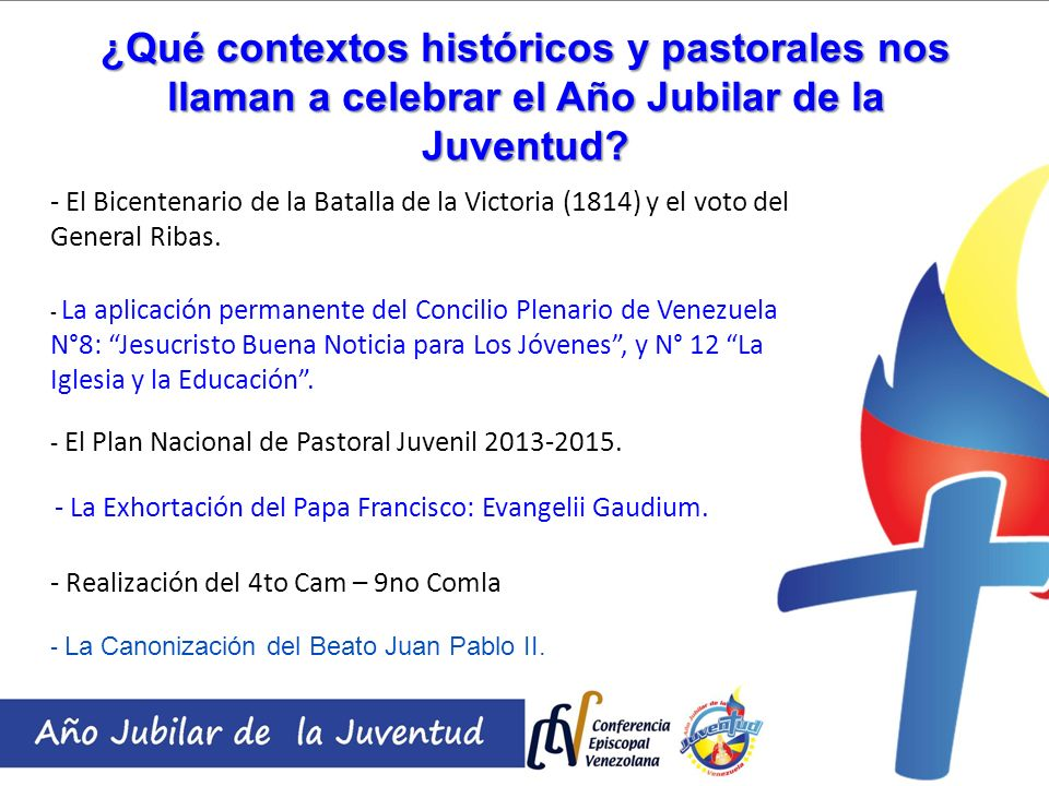¿Qué contextos históricos y pastorales nos llaman a celebrar el Año Jubilar de la Juventud? - El Bicentenario de la Batalla de la Victoria (1814) y el