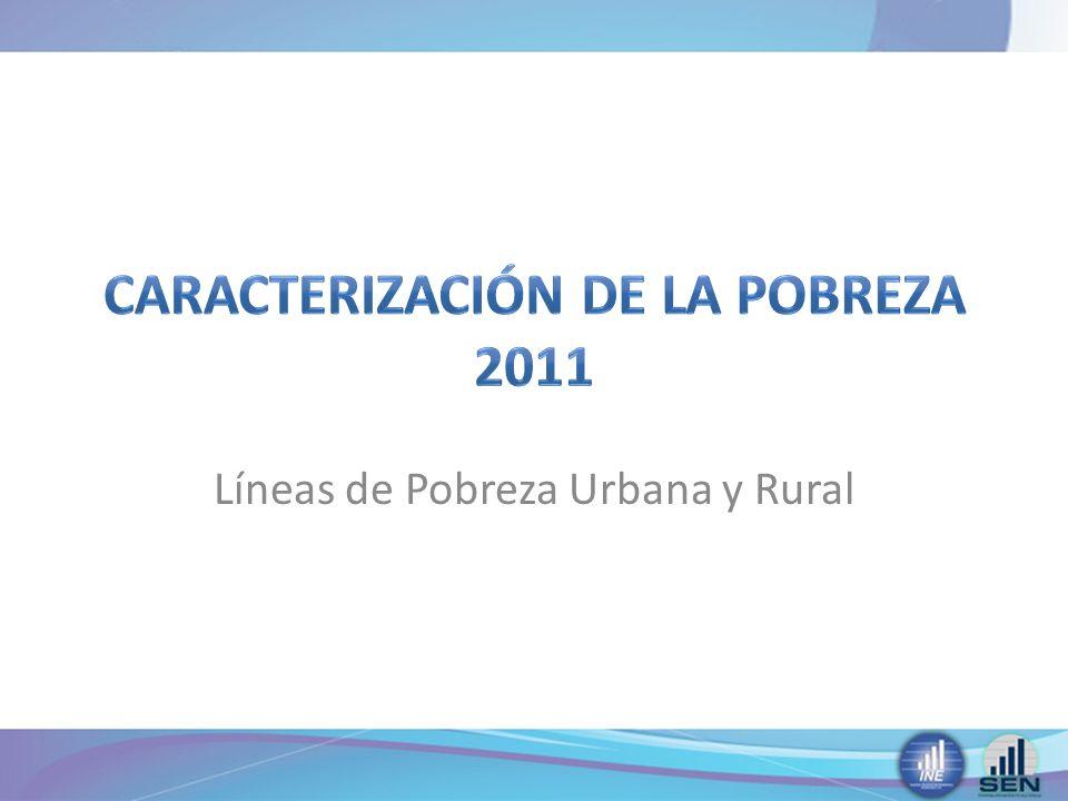 Líneas de Pobreza Urbana y Rural