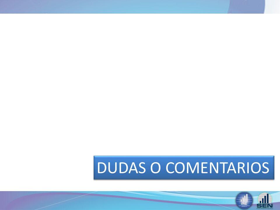 DUDAS O COMENTARIOS