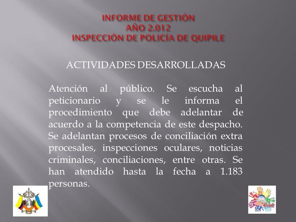 INSPECCIÓN DE POLICÍA DE QUIPILE CONSUELO POVEDA ÁVILA
