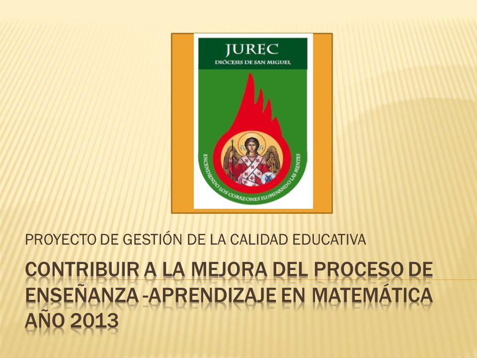 PROYECTO DE GESTIÓN DE LA CALIDAD EDUCATIVA