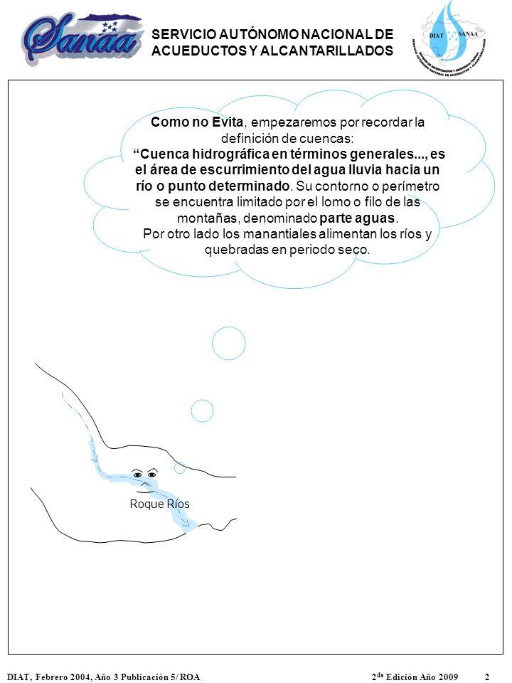 Roque Ríos Como no Evita, empezaremos por recordar la definición de cuencas: Cuenca hidrográfica en términos generales..., es el área de escurrimiento