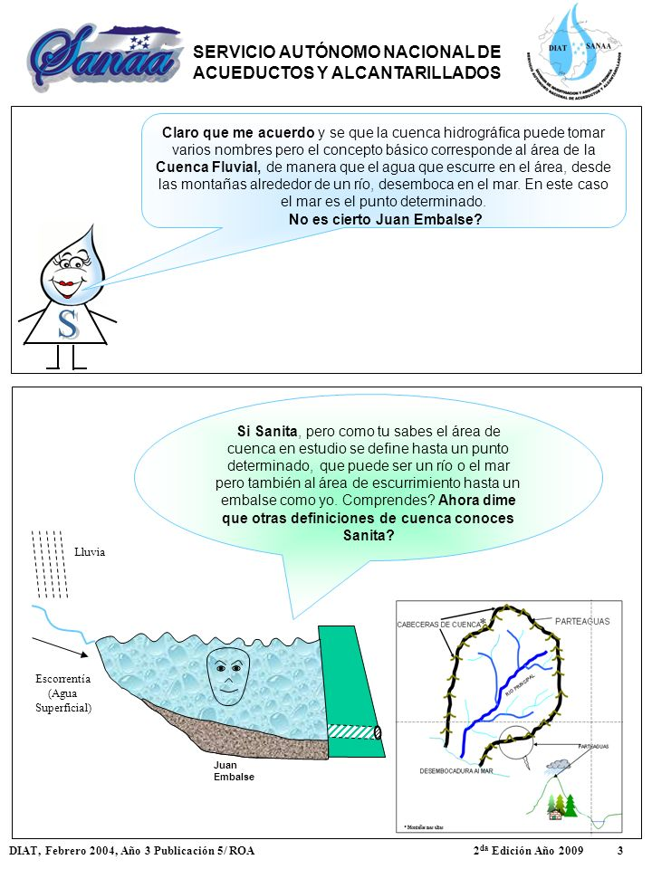 Juan Embalse Escorrentía (Agua Superficial) Lluvia Si Sanita, pero como tu sabes el área de cuenca en estudio se define hasta un punto determinado, qu