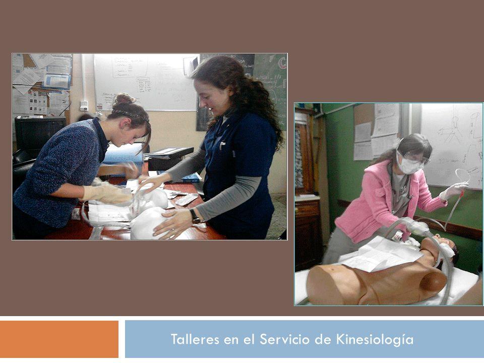 Talleres en el Servicio de Kinesiología