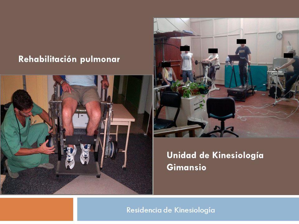 Unidad de Kinesiología Gimansio Rehabilitación pulmonar Residencia de Kinesiología