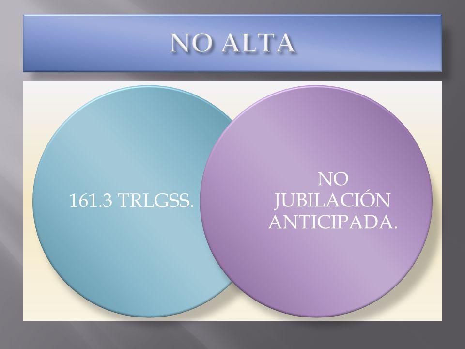 161.3 TRLGSS. NO JUBILACIÓN ANTICIPADA.