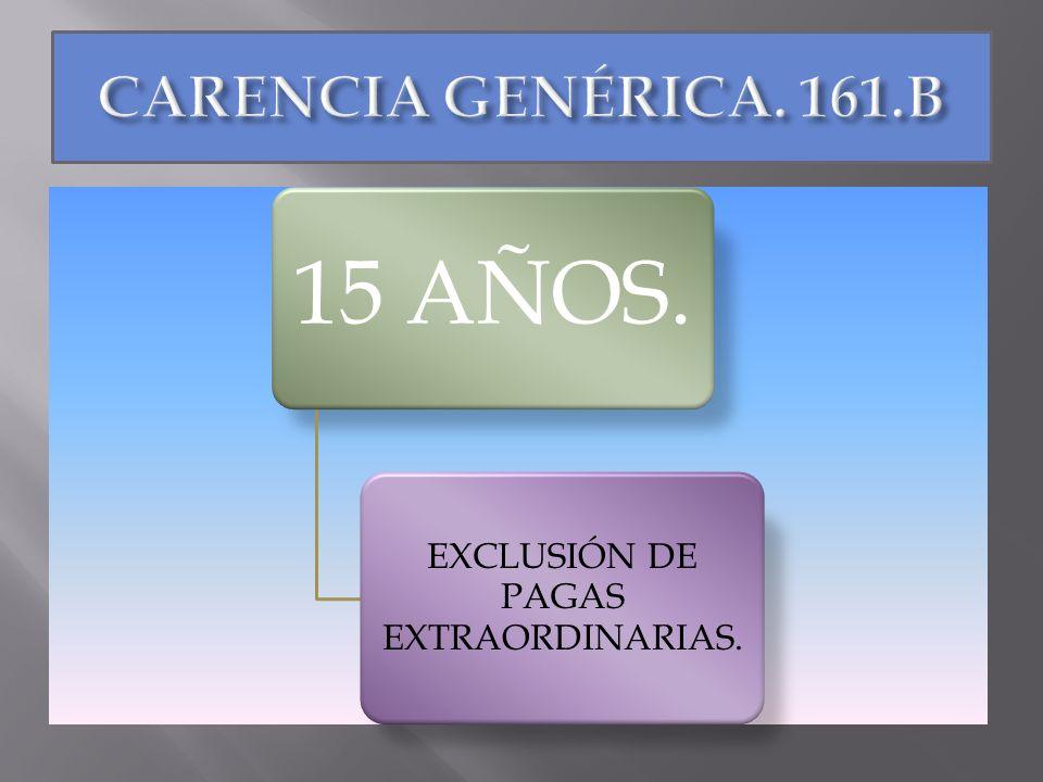 15 AÑOS. EXCLUSIÓN DE PAGAS EXTRAORDINARIAS.