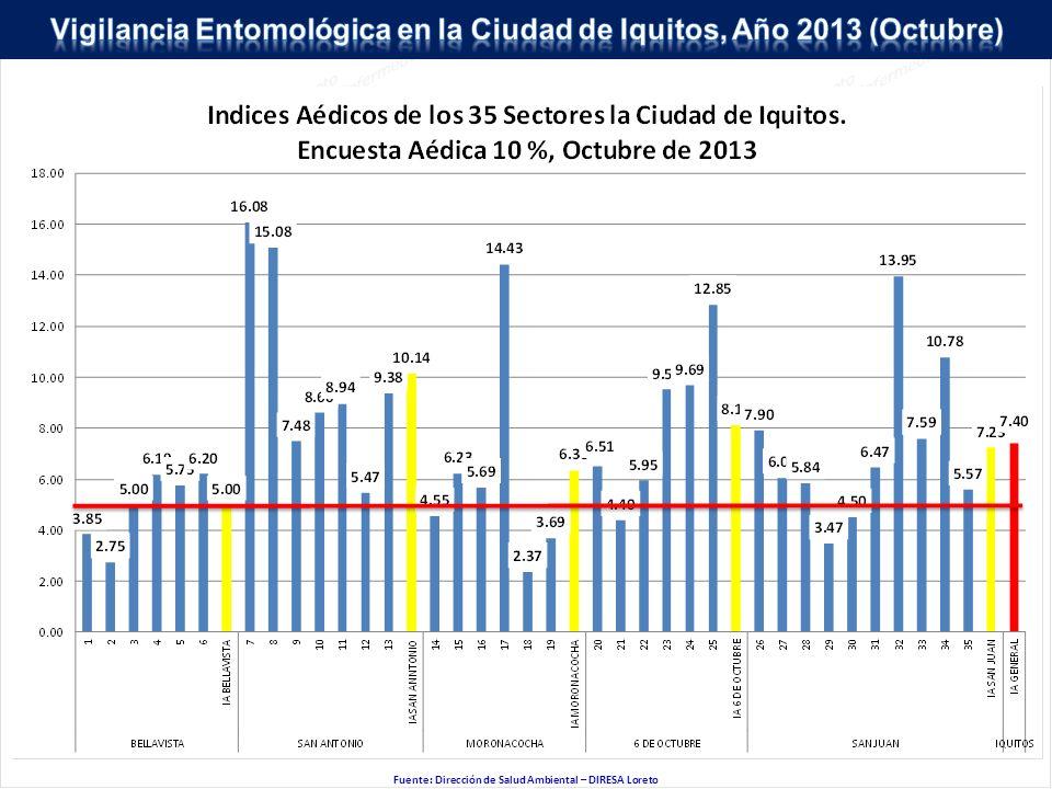 Fuente: Dirección de Salud Ambiental – DIRESA Loreto