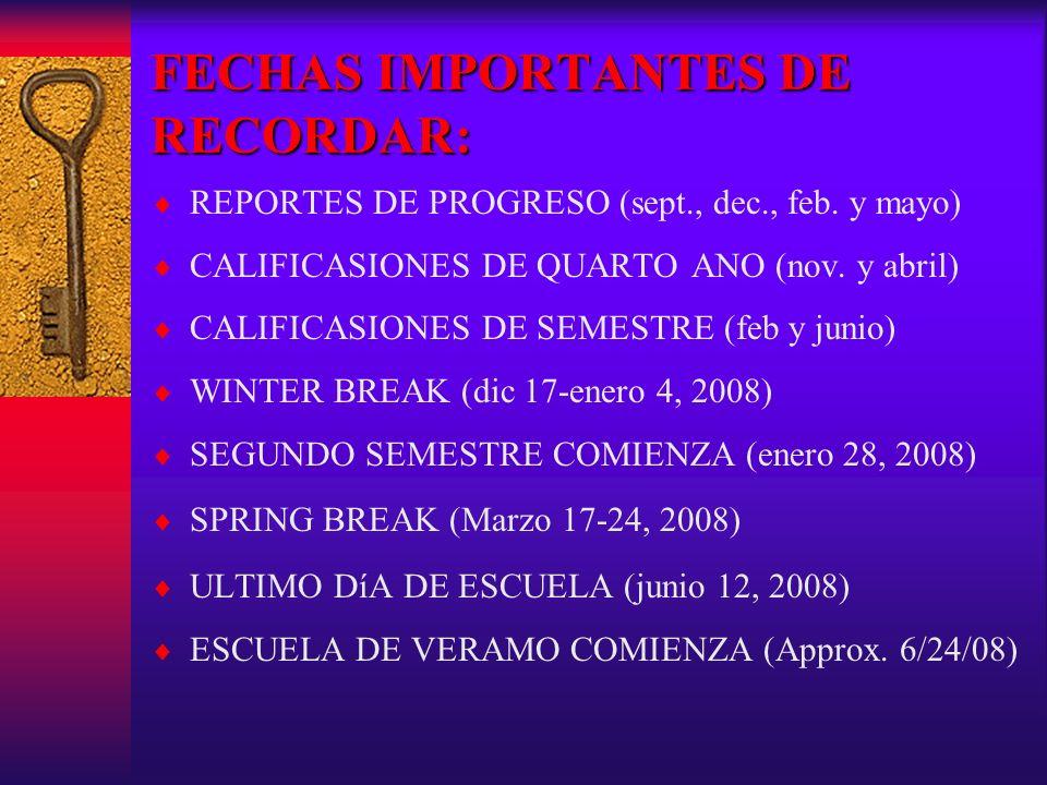 Planificacion de Colegio Registrate para el SATRegistrate para el ACT Examen Registrate para el dia Oct.6, 2007 Sept.