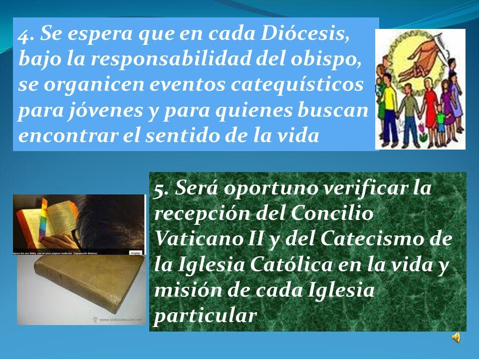 1. Se auspicia una celebración de apertura del Año de la fe y de su solemne conclusión en el ámbito de cada Iglesia particular 2. Será oportuno organi