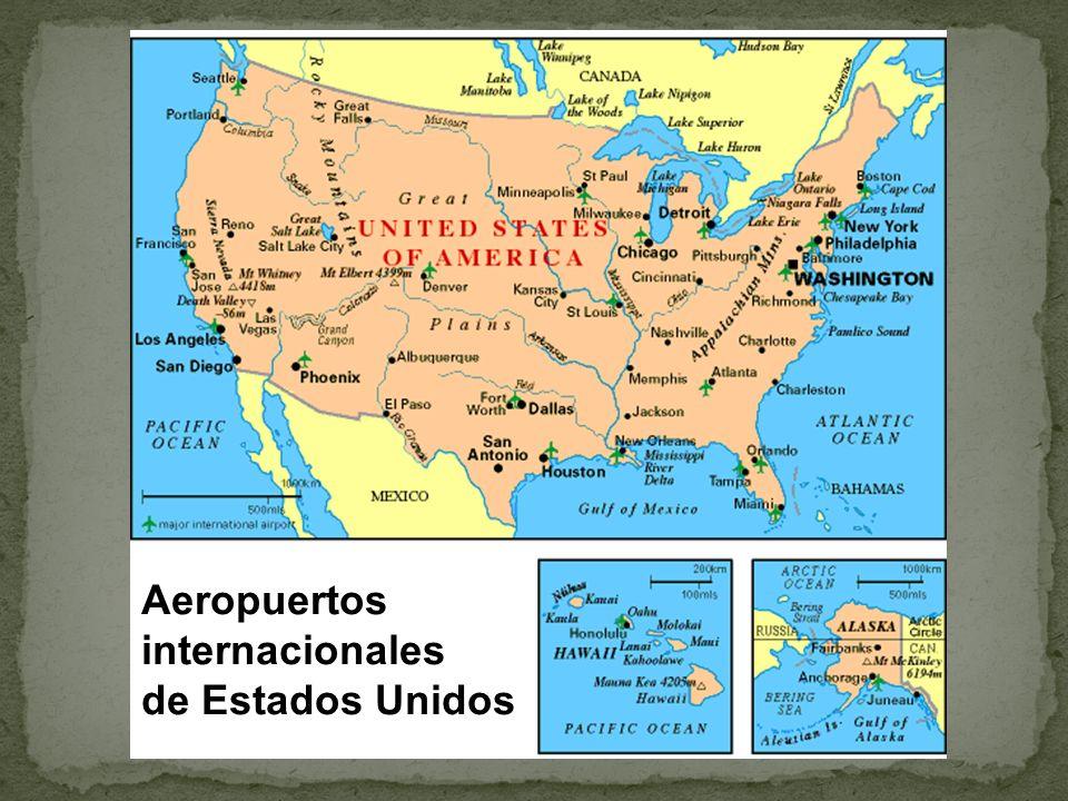 Aeropuertos internacionales de Estados Unidos